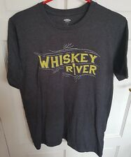Old Navy Whiskey River Men's Gents T Shirt Top In Grey Size Medium