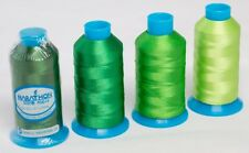 Marathon Polyester Embroidery machine thread: Shade Pack - Green 4 x 1,000m