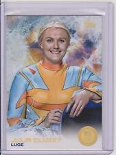 SUPER RARE 2014 TOPPS OLYMPIC JULIA CLUKEY RAINBOW CARD #16 ~ LUGE