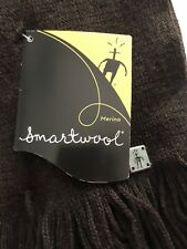 NWT New Unisex SMARTWOOL Longview Scarf 100% Merino Wool, Chocolate