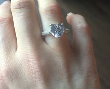 2 CARAT HEART CUT LAB DIAMOND ENGAGEMENT RING Various Sizes
