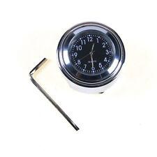 "Universal Motorcycle 1"" 7/8"" Classic Split Ring Handle Bar Chrome Watch Clock US"