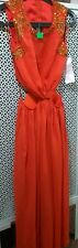 ASOS Embellished Red Maxi Cutout Dress Wedding Prom Size:10 BNWT Free Post