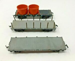 LOT OF 3 HO SCALE OLD TIME STYLE FLAT CARS V&T, UP FAIR CONDITION