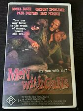 Men With Guns VHS Ex-rental video tape HTF on DVD 2 sleeves violent drug film
