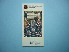 1990/91 MUTUAL LIFE OF CANADA NHL HOCKEY SCHEDULE MARK MESSIER