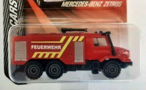 Majorette Sos Cars Germany. Mercedes Zetros. Scale 1/87. New IN Blister Packs