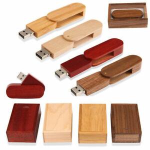 Swivel Wooden USB 3.0 Flash Drive Customized Wedding Studio Pendrive USB Box