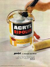 PUBLICITE ADVERTISING 014   1964    RIPOLIN  peinture  ACRYL
