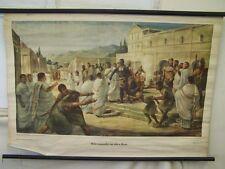 Antique Tableau d'apprentissage Marché des esclaves dans ancien Rome Vintage