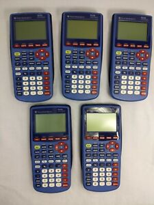 Texas Instruments TI-73 Explorer Graphing Calculator, Lot of 5, Work Fine