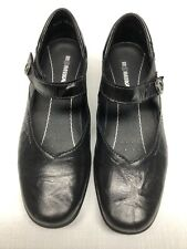 ROMIKA Women's Black Leather Mary Janes Comfort Shoes Size 40 or US 7-7.5