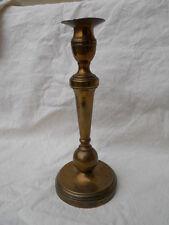 Ancien bougeoir en bronze , boule à la base ,  XVIII ème à voir