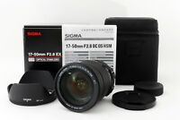 SIGMA ZOOM 17-50mm f/2.8 EX DC OS HSM Lens for Nikon w/Box Top Mnt From JAPAN