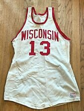 Vintage 1970s WISCONSIN Badgers Game Used Basketball Jersey Worn by #13 McCauley
