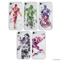 Marvel Gel Silicone Soft Case/Cover for Apple iPhone 5/5s/SE / Screen Protector