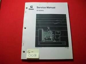 ONAN CUMMINS SERVICE MANUAL DN SERIES GENERATOR SETS - 4 MODELS VERY GOOD COND.