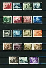 Croatia 1941 Landscapes full set of stamps. Mint. Sg 32-50.