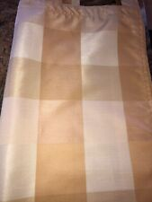 "FABULOUS COUNTRY CURTAINS TAP TOP GOLD LARGE CHECK CURTAINS 63""L"