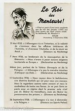 WW2 . LE ROI DES MENTEURS. Führer Adolph HITLER . Caricature. Satire. Propaganda