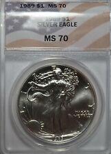 1989 American Silver Eagle ANACS MS70