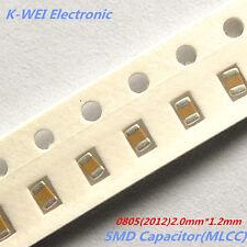 0805 Chip Capacitor 2012 SMD Ceramic Capacitors choose PF NF UF 100Pcs/Lot