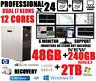 HP XEON I7 12 CORES (24-PROCESSOR) 6-MONITOR TRADING COMPUTER w/48GB✓240 SSD+2TB