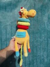 Doudou peluche berceuse lumineuse eveil bebe musical hochet Girafe LILLIPUTIENS