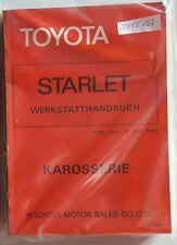 Werkstatthandbuch / Shop manual Toyota Starlet KP60 1978, 79, 80, 81, 82 & 84