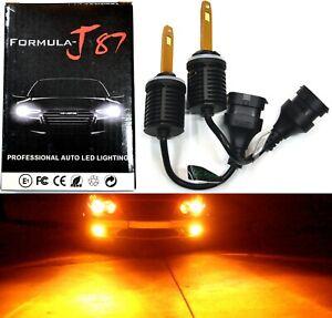 LED Kit M10 100W 898 Orange Amber Two Bulb Fog Light Upgrade Replacement Lamp OE