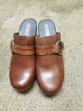 Harley Davidson 83384 Leather Clogs Women's Size 7