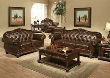Leather Traditional Sofa Sets for sale | eBay