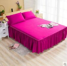 Pink Single Ruffle Bedding Bed Spreads Cover Sheet Valance Bed Skirt 1.2X2M .