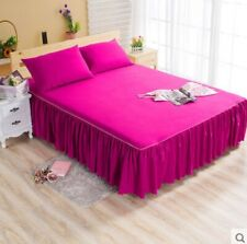 Pink Queen Ruffle Bedding Bed Spreads Cover Sheet Valance Bed Skirt 1.8X2M #