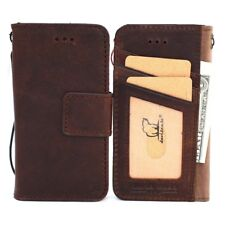 Genuine Leather Case for iPhone XR Wallet Rubber Cover Detachable Soft Magnetic