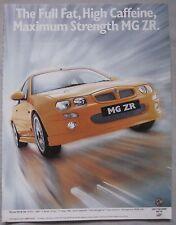 2001 MG ZR Original advert