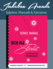 NEW! Rock Ola Model 429 Jukebox Service Manual, Parts Lists Printed in COLOR!