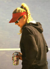 Anna Kournikova Candid 8x10 Color Photograph 2009 Charity Tennis Event Soda Can
