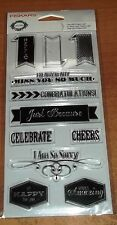 CLEAR ACRYLIC FISKAR STAMPS SALUTATIONS ~ Miss You So Much  wk CTMH blk