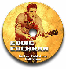 Eddie Cochran Rockabilly Rock Guitar Tab Tablature Song Book CD