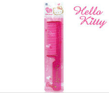 Hello Kitty Fine Tooth Pearl Square Hair Comb Women Curling Styling HK073 Pink