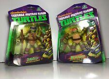 Nickelodeon Teenage Mutant Ninja Turtles Figurine NIB DONATELLO & MICHELANGELO