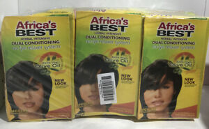 Africa's Best No Lye Herbal Intensive Dual Conditioning Relaxer- Regular - 3Pack