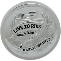 Drag Specialties Chrome Live to Ride Non-Vented Gas Cap for 1982-1996 Harley