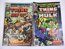 The Thing Incredible Hulk Iron Fist Marvel Two In One # 25 & 46  Marvel Comics