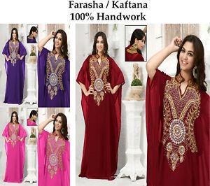 Dubai Style Women Kaftan Caftan Farasha Abaya Maxi Dress Kimono Beach Cover Up K