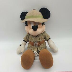 "Walt Disney World Safari Mickey Mouse Animal Kingdom 12"" Plush Explorer Mickey"
