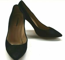 J. Crew Women's 5.5 Everly 99086 Black Suede Pointed Toe Classic Pump Heels