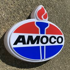 AMOCO GASOLINE LED LIGHT BOX GARAGE GAS OIL ADVERTISING WALL SIGN AUTOMOBILIA