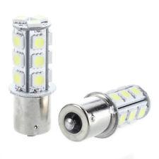 2 x 1156 BA15S LAMPADINA 5050 SMD 18 LED 12V BIANCO per auto W6O2